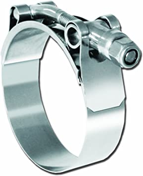 """3 3//8/""""-3 9//16/"""" T-Bolt Hose Clamp for Silicone Radiator Hose Stainless Steel"""