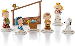 Hallmark Exclusive 2012 Peanuts Gallery Nativity Figurines - Set of 7 - #XKT1037 by Hallmark