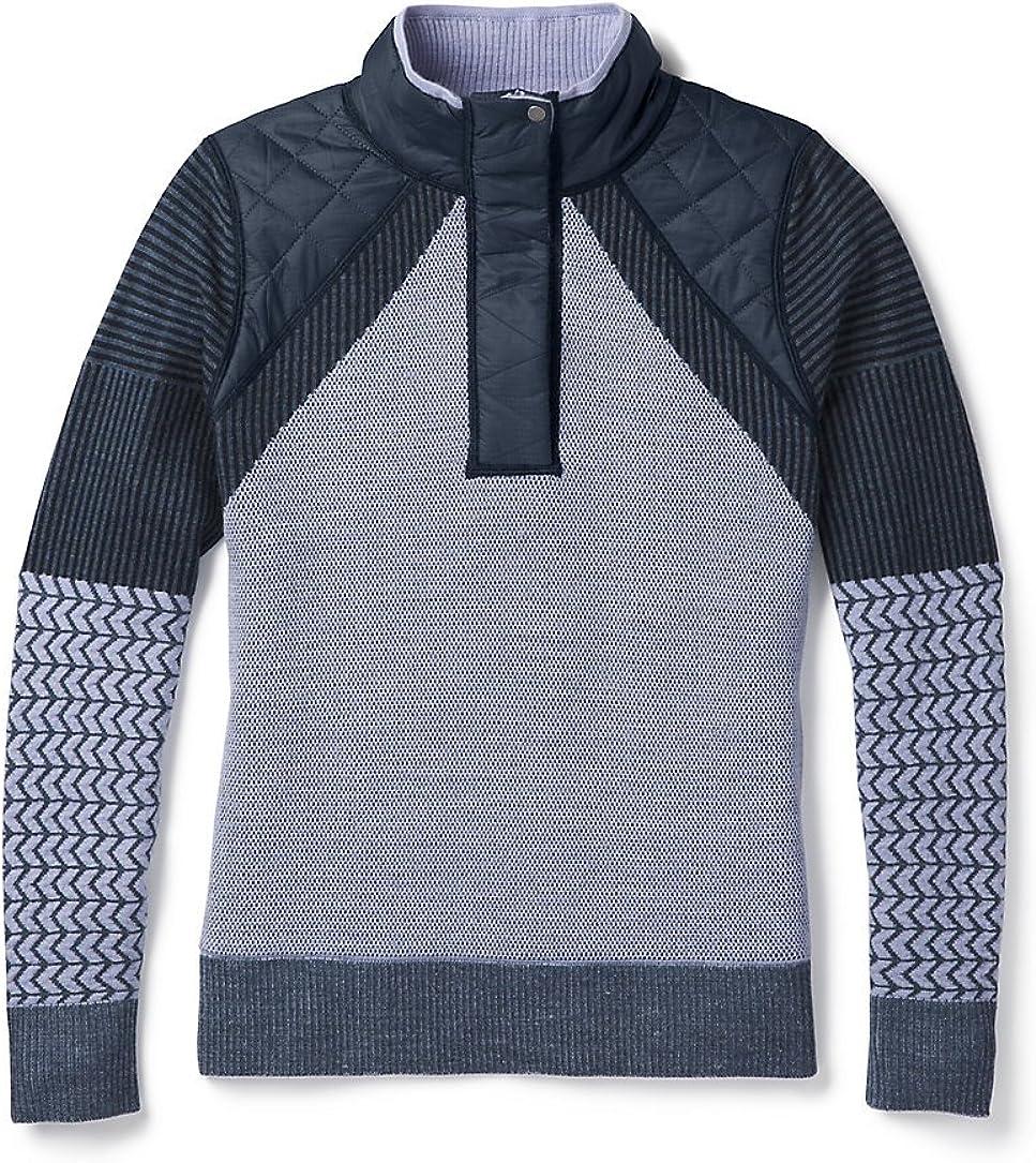 Smartwool Women's Ski Ninja Pullover Sweater Deep Navy Heather XL