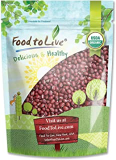 Organic Adzuki Beans, 8 Ounces - Non-GMO, Kosher, Dried, Bulk