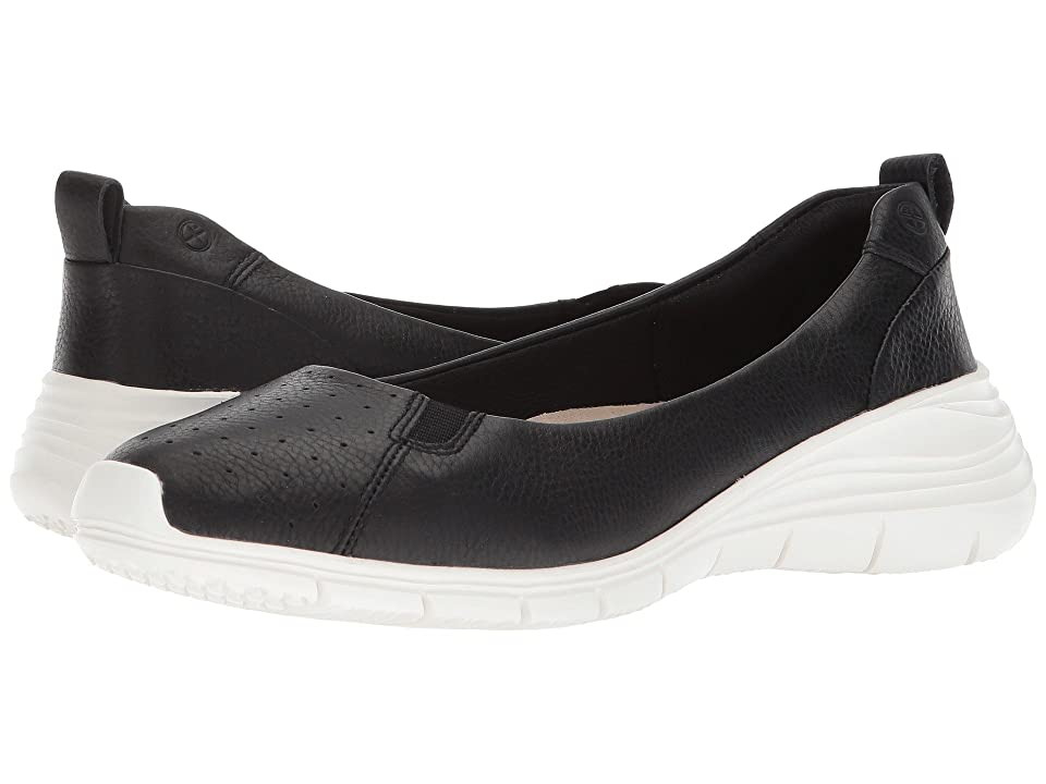 Hush Puppies Cypress Slip-On (Black Leather) Women