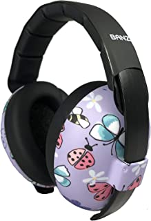 Baby Banz Earmuffs Ear Protection – The Original Infant & Toddler Hearing Headphones – Best Design for Ages 0-2 Years – Industry Leading Noise Reduction Rating – Block Sound – Fireworks (Butterfly)