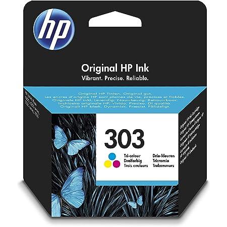 HP 303 Cartouche d'Encre Trois Couleurs Authentique (T6N01AE)