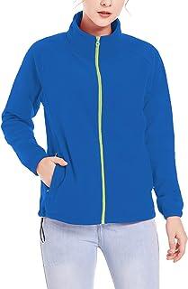 SPRING SEAON Women's Classic Fit Long-Sleeve Polar Fleece Jacket Side Pockets Soft Shell Coat Winter Jacket