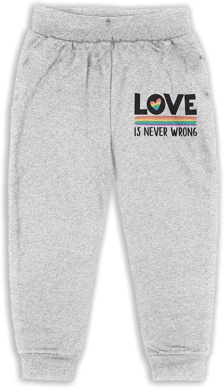 Unisex Kids Love is Love LGBT Pride Month Rainbow Gift Active Pants Cotton Dance Pants Leisure Pants for Boys