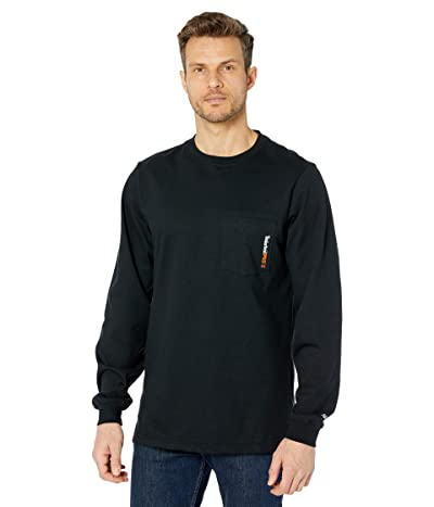 Timberland PRO FR Cotton Core Long Sleeve Pocket T-Shirt with Logo