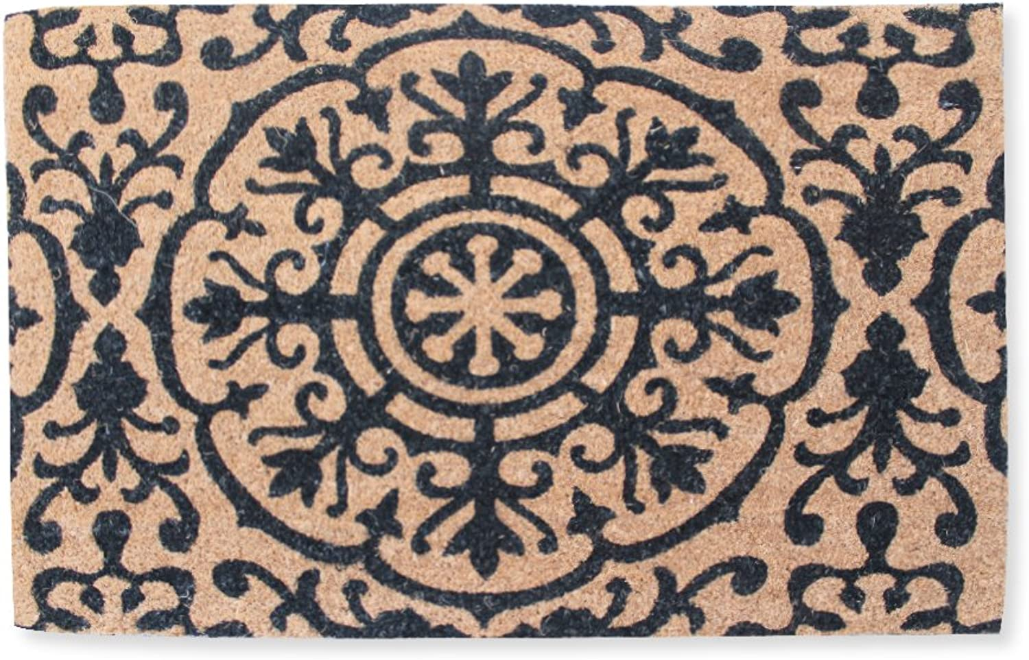 A1 HOME COLLECTIONS First Impression Entry Doormat, pinkanne Coir, Large(24 x36 )(PT2005)