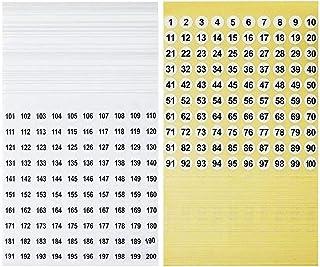50 Fogli da 1 a 100 Adesivi con Numeri in Vinile Consecutivi Etichette Rotonde Piccole Adesivi per lOrganizzazione dellInventario// Archiviazione per Interni Esterni Inventario 1 Pollice