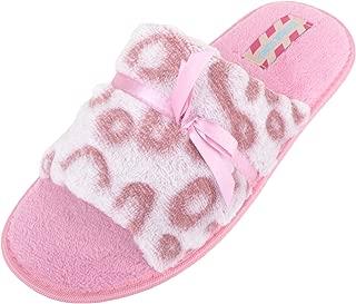 ABSOLUTE FOOTWEAR Womens Open Toe Faux Fur Slip On Mules/Slippers/Shoes