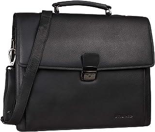 """STILORD Noel"""" Aktentasche Leder Herren Vintage groß Klassische Arbeitstasche Bürotasche Umhängetasche Dokumententasche mit Laptopfach 13,3 Zoll und Trolleyschlaufe"""