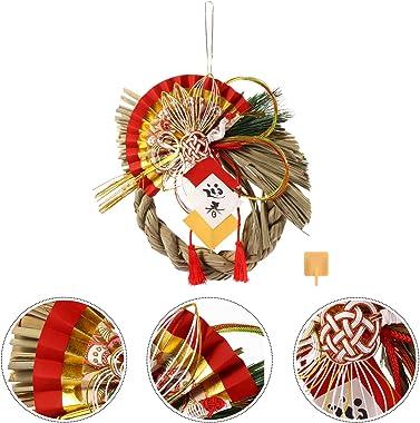ABOOFAN Japanese Hanging Ornaments Christmas Straw Wreath Japanese New Year Ornaments Sushi Restaurant Hanging Decoration