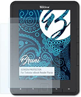 Bruni Screen Protector compatible with Trekstor eBook Reader Pyrus Protector Film, crystal clear Protective Film (2X)