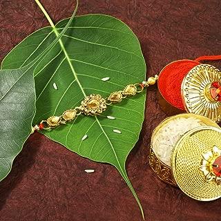 Aheli Traditional Faux Kundan Studded Rakshabandhan Rakhi for Brother Bhai Bhaiya Indian Hindu Festival
