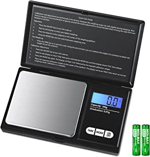 AMIR Digital Mini Scale, 100g 0.01g/ 0.001oz Pocket Jewelry Scale, Electronic Smart Scale with 7 Units, LCD Backlit Displa...