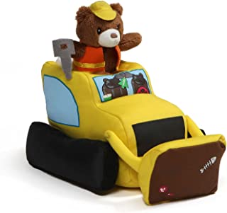 Baby GUND Lights and Sounds Bulldozer with Teddy Bear Stuffed Animal Plush, 9