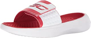 Under Armour Men's Curry 4 Slides Sandal, Red (600)/White, 12