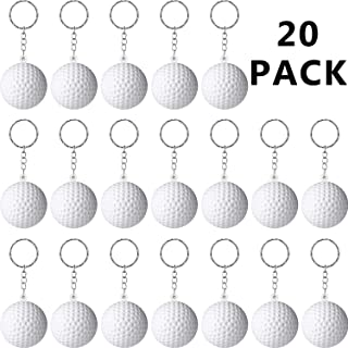 Blulu 20 Pack Sport Keychains or Kids Party Favors, School Carnival Reward, Party Bag Gift Fillers Golf Ball Keychains, 20...