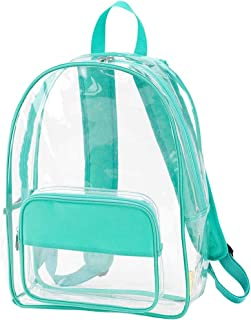 Clear Mint Green 17 x 12 Acrylic and Polyester Trim Basic Multipurpose Backpack