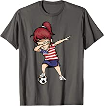 Dabbing Soccer Girl United States Jersey Shirt USA Football