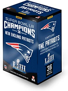2018 Panini Instant New England Patriots Super Bowl LIII Champions Complete Trading Card Set (36 Cards)