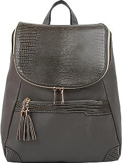 Copi Women's Fashion bags Lovely, feminine Round zipper Design Small Backpacks purse Gray