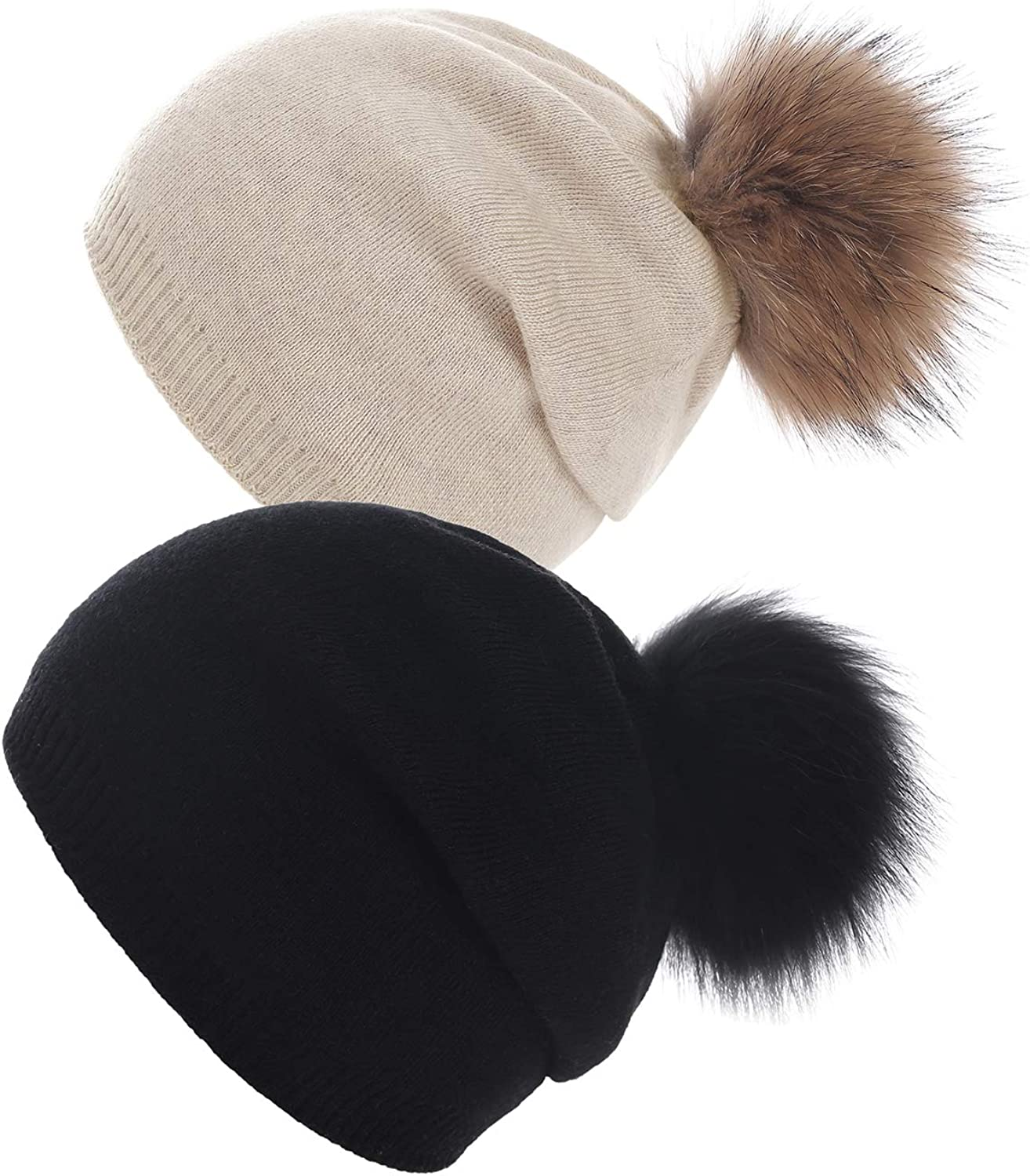 Women Knit Wool Beanie Factory outlet - Winter Real Ski Omaha Mall Rac Solid Hats Cashmere