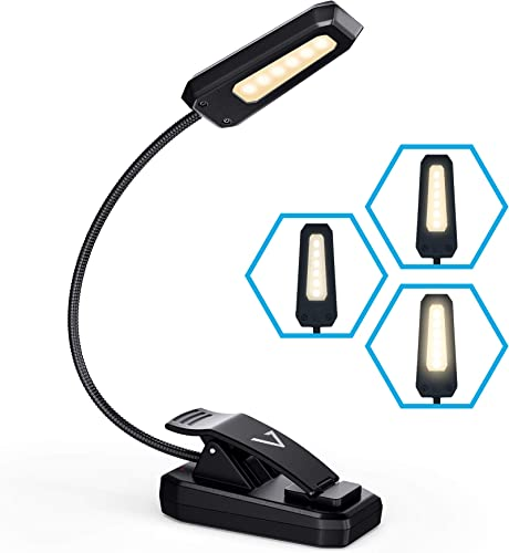 wholesale Vont Book Light, Reading Light, Rechargeable Book Light for Reading in Bed, (60 Hours) Eye Protection LEDs Reading Lamp, Clip On Light, Clamp Light, Bed Lamp, 3 online sale Modes, Warm White Light (Black) sale