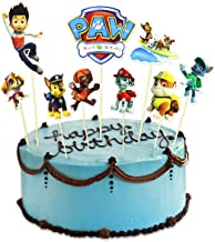 Dogs Cake Topper - Lifenjoy Happy Birthday Cupcake Toppers for Kids Birthday Party Supplies