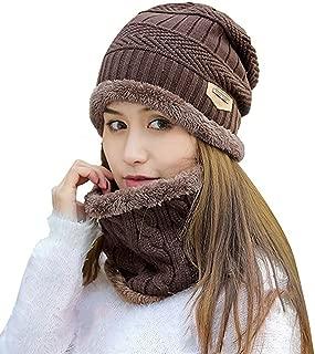 Womens Beanie Winter Hat Scarf Set Slouchy Warm Snow Knit Skull Cap