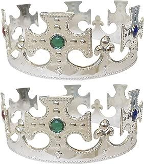 [SENYON] 王冠 キング 王様 コスチューム 2個セット (銀銀)