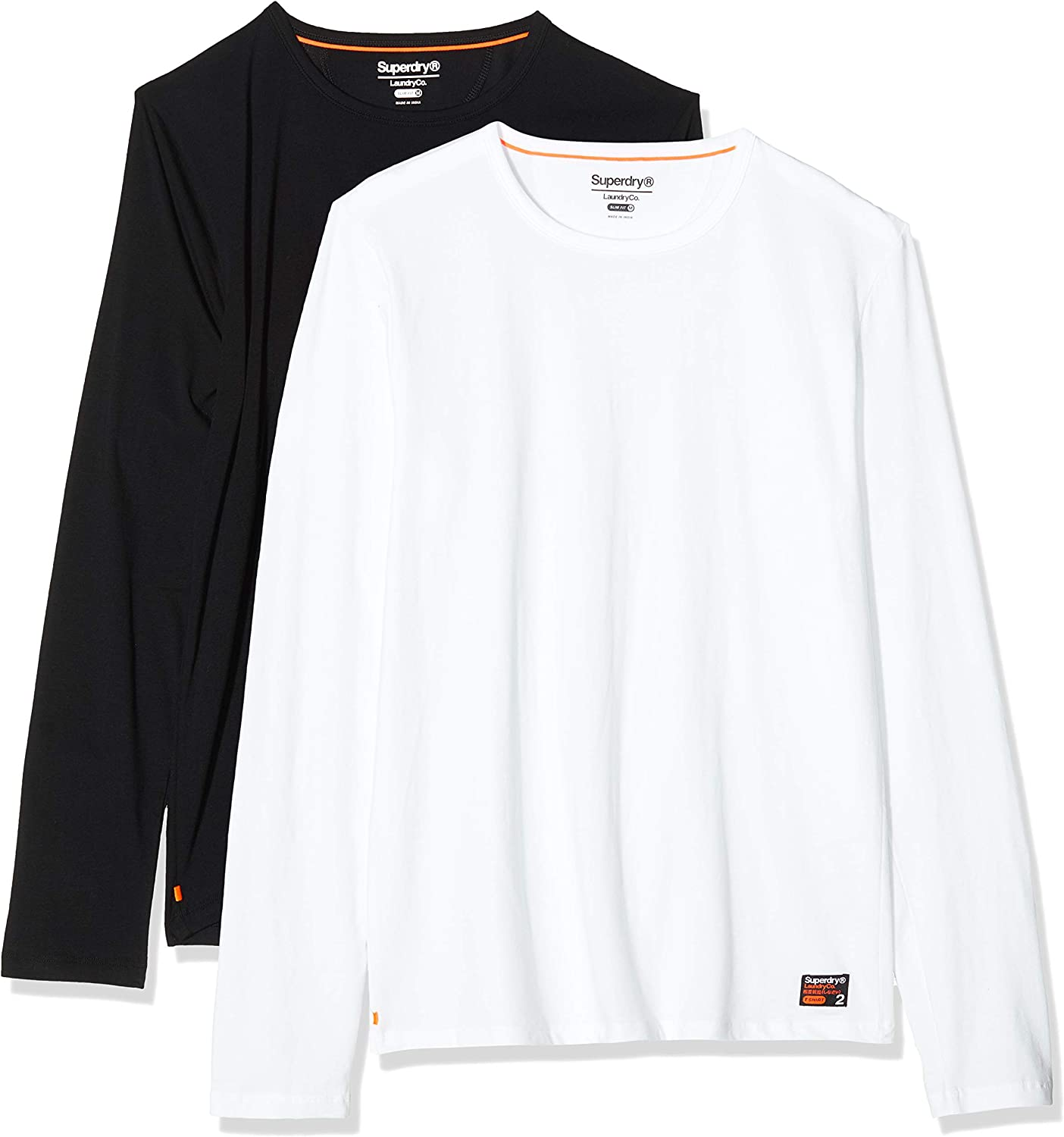 Superdry Organic Cotton Laundry Slim T-Shirts 2 - In Ranking TOP2 a popularity Pack Fit