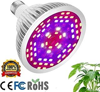 12W Led Grow Light Bulb, Full Spectrum Plant Lights for Indoor Plants Hydroponics, Plants Grow Light Bulb for Flowers, Vegetables, Greenhouse, Organ Soil and Succulents (E26/E27 78LEDs)