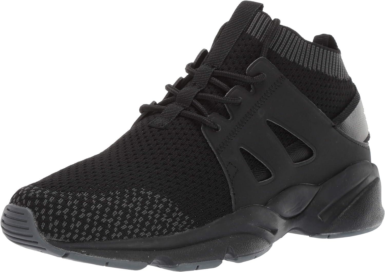 Propet Women's Stability Strider Sneaker, Black, 10H 4E 4E US