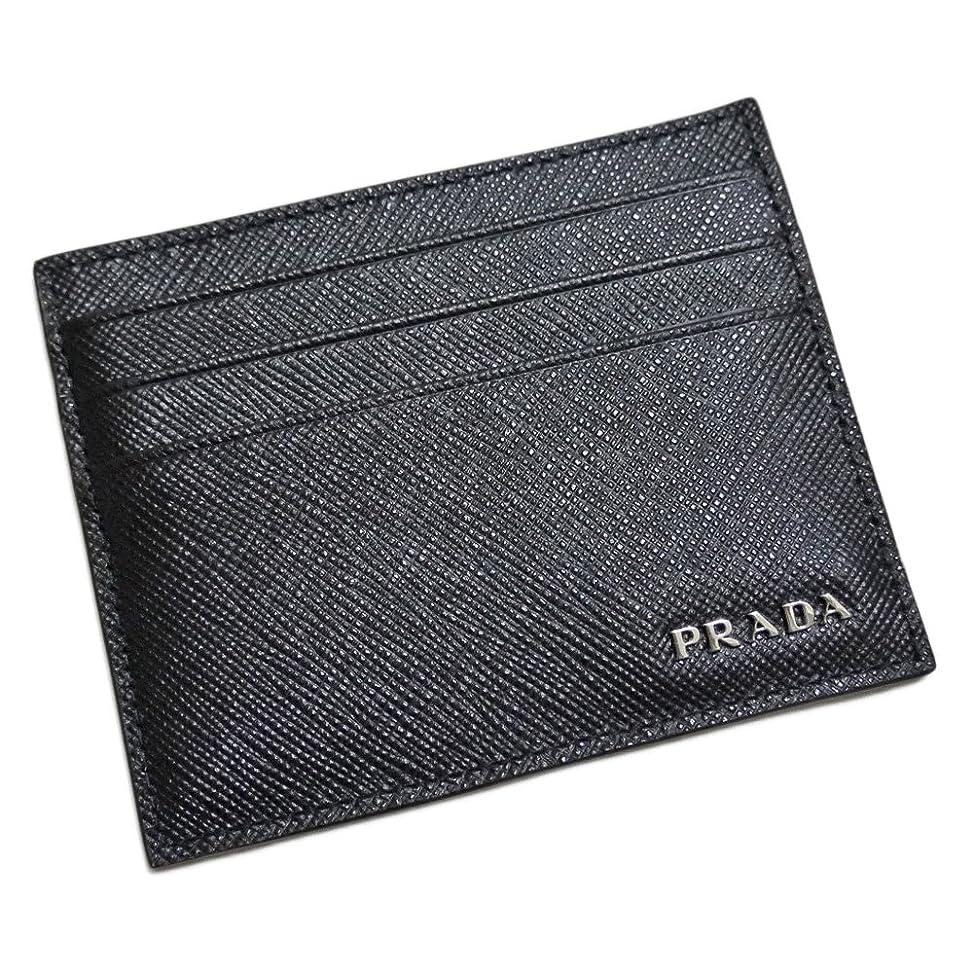 道徳の一般的に言えば明るくする[プラダ] PRADA メンズ サフィアーノレザー 名刺入れ(カードケース) 黒×グレー 2MC223 PRADA [並行輸入品]