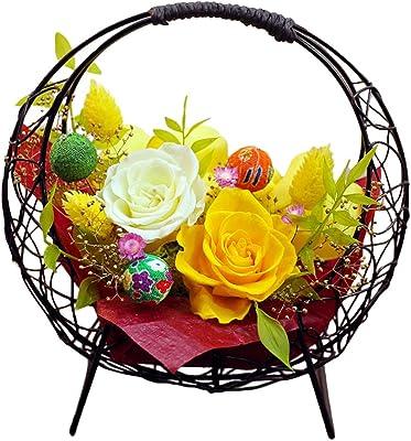 サウンドアレンジ 花つづり(ひまわり色) プリザーブドフラワー 母の日 花束 誕生日 プレゼント 花 ギフト 退職祝い 還暦祝い 長寿 結婚祝い