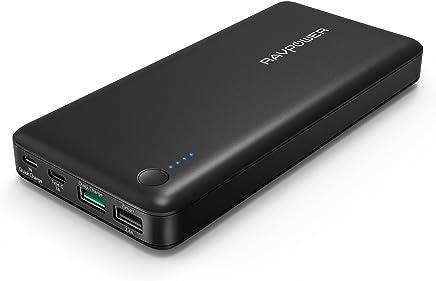 Quick Charge 3.0 Chargeur Portable RAVPower 20100mAh Type C, Batterie Externe [Qualcomm Certifié] avec Entrée et Sortie USB C pour Nintendo Switch, iPhone, MacBook, Galaxy S8, ASUS, LG, etc (Câble USB C Non Inclus)