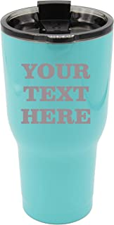 ANY TEXT - 20 oz RTIC Tumber - Custom Engraved and Monogrammed with Your Personalized Words (Teal Blue)