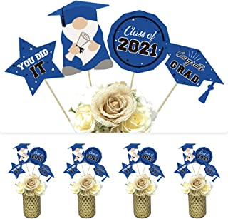 DazongeGraduationPartySupplies2021-Classof2021CongratsGradCenterpieceSticks-Blue&BlackGraduationTableDe...