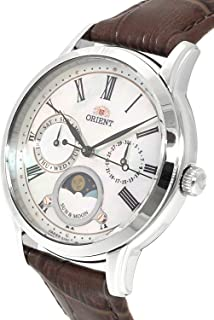 ORIENT: Quartz Classic Watch, Leather Strap - 34.8mm (RA-KA0005A)