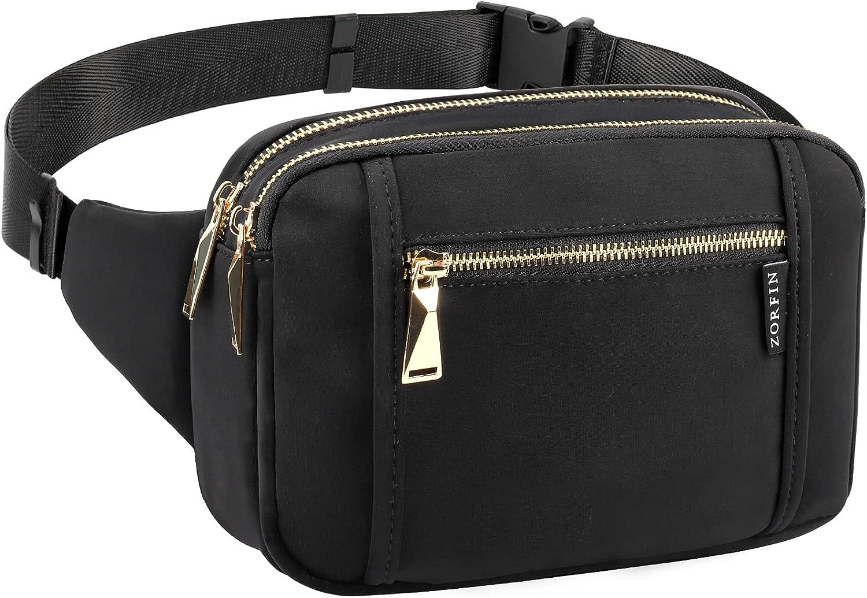ZORFIN Fanny Packs for Women Men Some reservation Pack Waist Bag Belt Fashion wi Large discharge sale