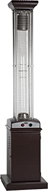 Fire Sense 62224 Hammered Bronze Finish Square Flame Patio Heater