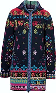 IVKO Jacquard Long Jacket with Hood, Black