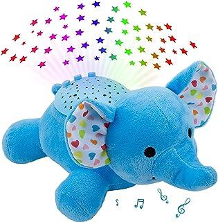 寝かしつけおもちゃ 人気 メロディー オルゴール おもちゃ 寝かしつけ象ちゃん 音楽再生と7ライト プロジェクター ミュージカルライト付き 洗濯できる 玩具 出産祝い 誕生日プレゼント 家庭用 男の子 女の子
