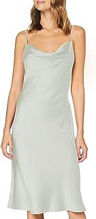 Marca Amazon - find. Vestido Midi de Satén Mujer