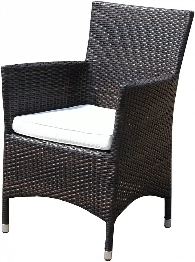 Beliani Italy Wicker Garden Patio Outdoor Brand new Dining Chair Brow and Fashionable