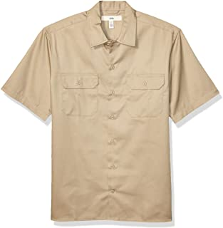 Amazon Essentials Short-Sleeve Stain and Wrinkle-Resistant Work Shirt Hombre