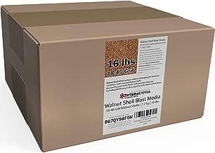 16 lbs or 7.2 kg Ground Walnut Shell Media 18-40 Grit - Fine Walnut Shells for Tumbling, Vibratory Or Blasting