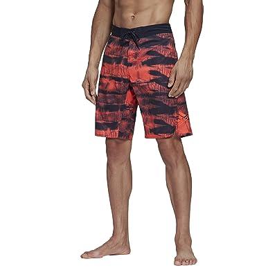 adidas Tech Two-Color Knee Length Shorts (Legend Ink/App Solar Red) Men
