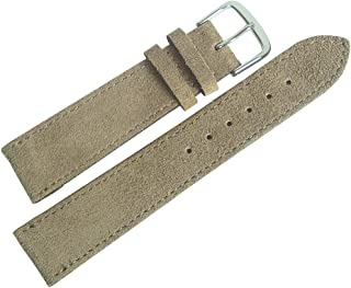 Fluco 20mm Sand Tan Suede Leather Watch Strap