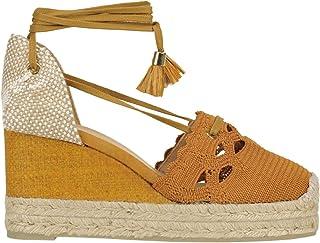 Luxury Fashion | Castaner Women MCGLCAT0000B7110E Brown Fabric Wedges | Season Outlet